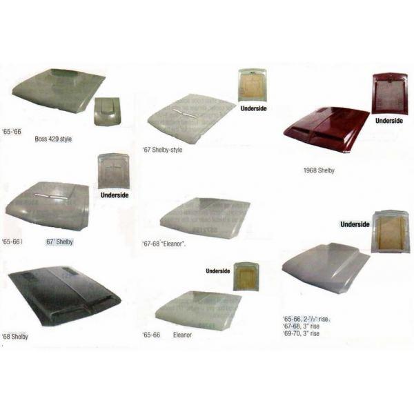 capot avant en fibre ford mustang 67 68 antares design. Black Bedroom Furniture Sets. Home Design Ideas