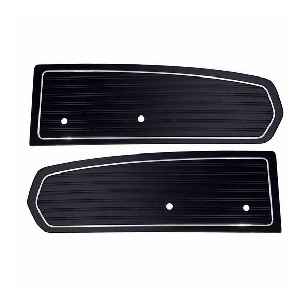 Paire d 39 interieur de porte standard noir mustang 68 for Porte interieur standard